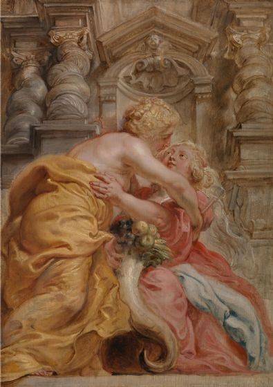 Rubens, Peter Paul: Peace Embracing Plenty. Fine Art Print/Poster. Sizes: A1/A2/A3/A4 (003917)